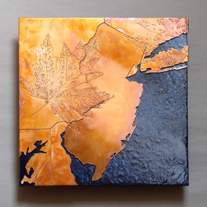 New Jersey Copper Map Art