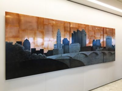 Columbus Skyline, 48x144 inches, commission for Baker Hostetler