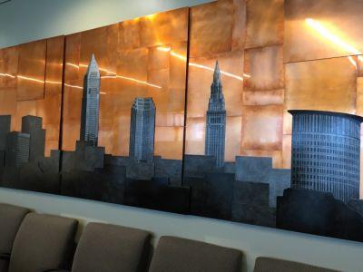 Custom Copper Cleveland Skyline