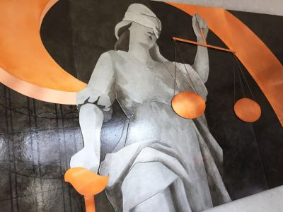 Lady Justice, 30x52 inches, commission