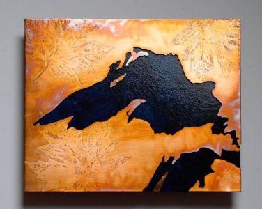 Lake Superior Copper Art Map