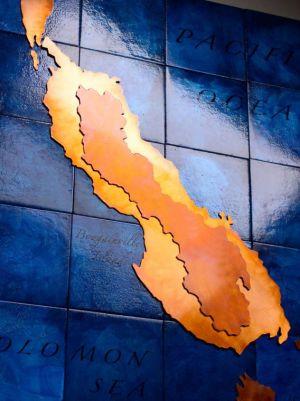 Large Custom Copper Map Art