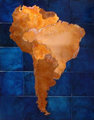 South America copper map