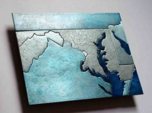Maryland Washington DC metal wall art may by Copper Leaf Studios
