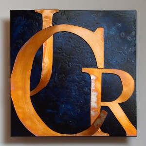 Custom copper letters by Copper Leaf Studios