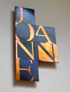 Custom Copper Name by Copper Leaf Studios
