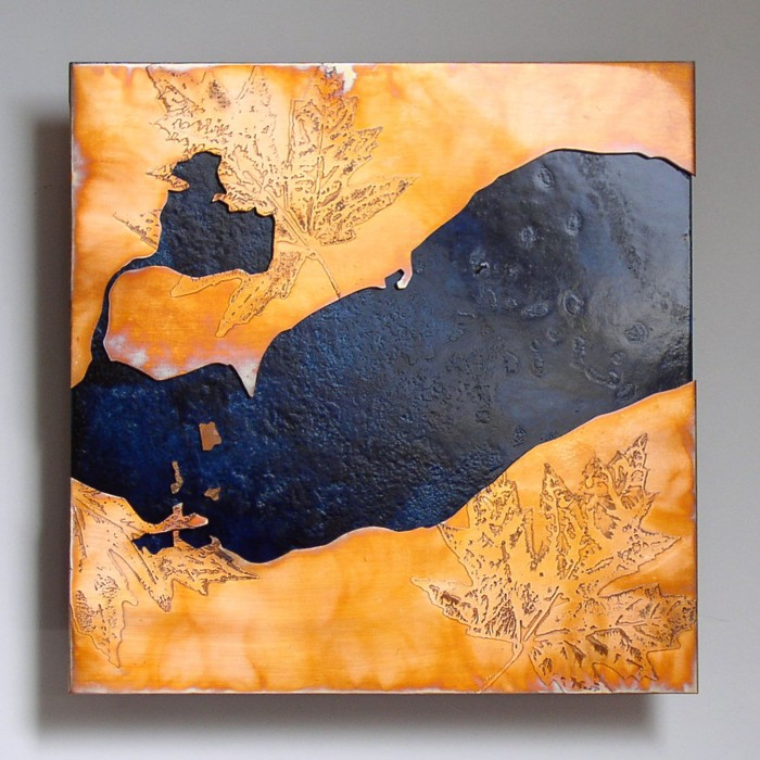 Lake Erie copper map art