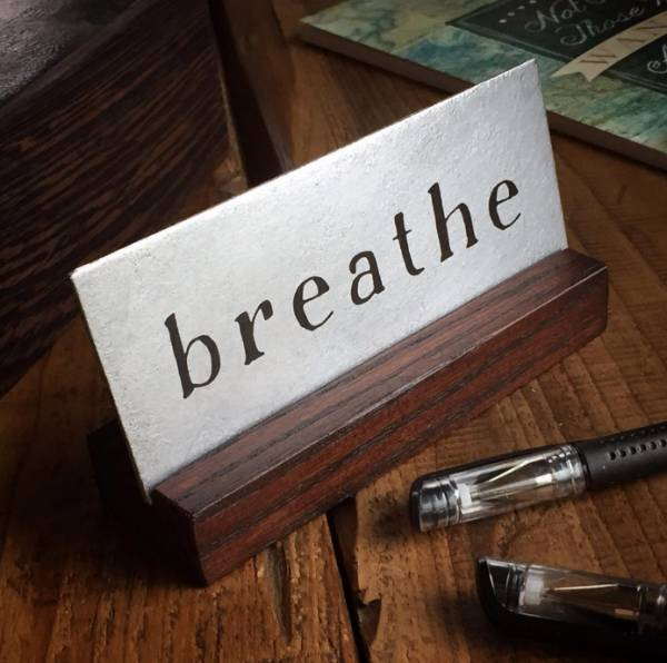 Breathe desk art