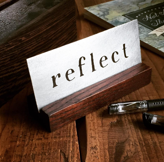 Reflect desk art