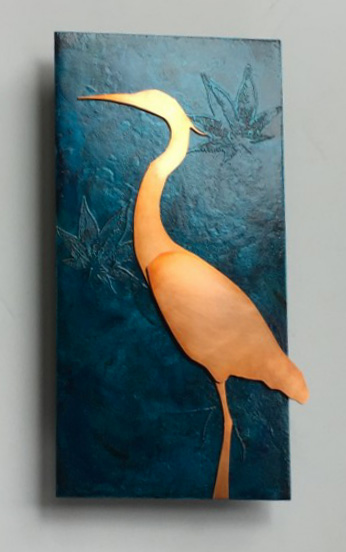 Heron Copper Decor